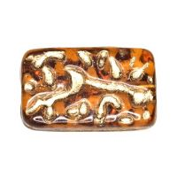 Vintage amber-colored glass beads