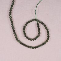 4 mm round faceted jade beads