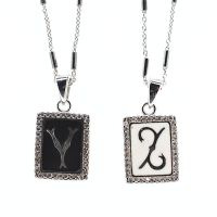 Initial pendant necklace - X to Z