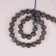 12 mm round labradorite beads