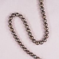 8 mm round brown pearls