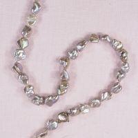 10 mm to 14 mm irregular bronze silvery pearls