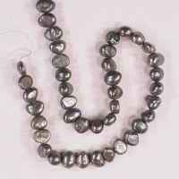 7 mm gray potato pearls