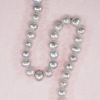 10 mm light gray potato pearls