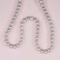 6 mm mostly potato silver pearls