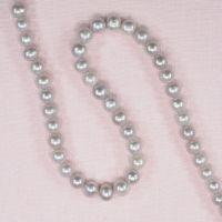 7 mm light gray round pearls