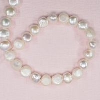 12 mm cream white coin pearls