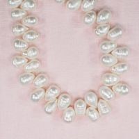 10 mm white top-drilled teardrop pearls