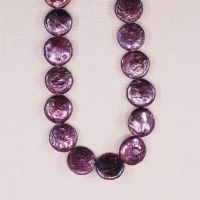 14 mm purple coin pearls
