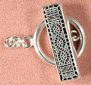 Black etched toggle clasp
