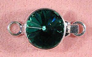 Emerald Swarovski rivoli clasp