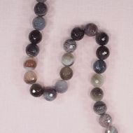12 mm round faceted Botswana agate beads