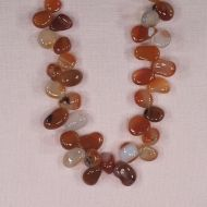 10 mm top-drilled irregular carnelian teardrop beads