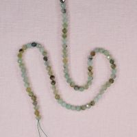 4 mm faceted round chrysoprase beads