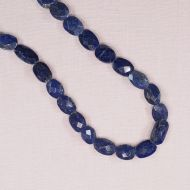 10 mm to 12 mm oval faceted lapis beads