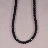 4 mm by 6 mm black onyx faceted rondelles