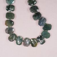 22 mm by 16 mm irregular fancy jasper hexagon beads