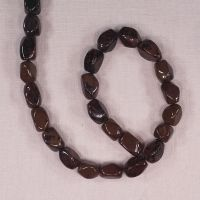 12 mm by 10 mm mahogany agate nuggets
