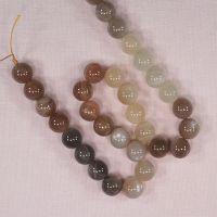 12 mm round orange moonstone beads