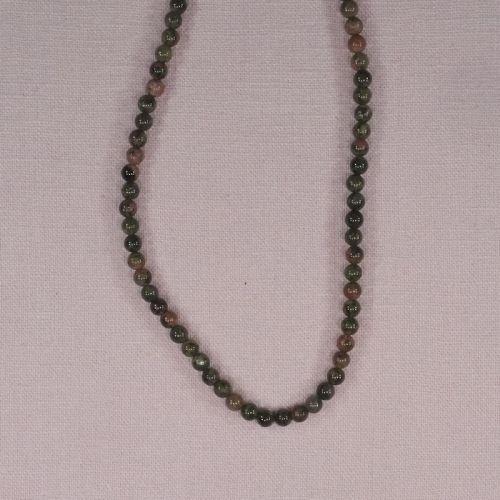 4 mm round unakite beads