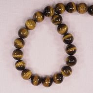 14 mm round tiger eye beads