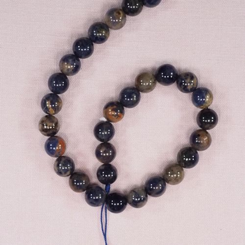 10 mm orange sodalite beads
